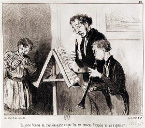 Daumier - Professeur de musique